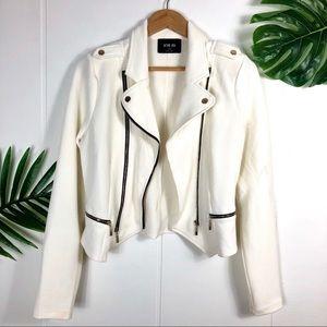 COPY - ACTIVE USA White Moto Jacket Size Large